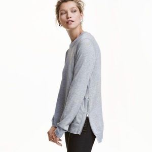 H&M Conscious side zip sweater